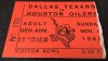 1962 AFL Houston Oilers at Dallas Texans Ticket Stub