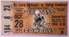 1962 NFL St. Louis Cardinals at Dallas Cowboys Ticket Stub