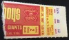 1967 NFL New York Giants at Dallas Cowboys Ticket Stub