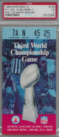 1969 Super Bowl Jets vs Colts PSA 3 Blue Version Ticket Stub