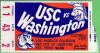 1970 NCAAF USC ticket stub vs Washington