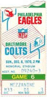 1970 NFL Philadelphia Eagles at Baltimore Colts ticket stub