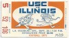 1971 NCAAF Illinois at USC ticket stub