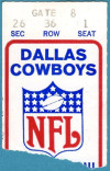 1972 NFC Championship Game Cowboys vs 49ers Ticket Stub