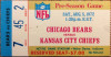 1972 NFL Bears vs Chiefs Ticket Stub at Notre Dame