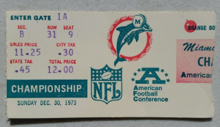 AFC Conference Championship Ticket Stubs