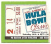 1973 Hula Bowl Game Ticket Stub