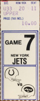 1977 NFL Jets at Colts ticket stub