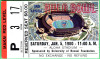 1980 Hula Bowl Game Ticket Stub