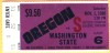 1980 NCAAF Washington State at Oregon ticket stub