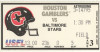 1985 USFL Baltimore Stars at Houston Gamblers ticket stub