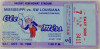 1986 NCAAF SW Louisiana at Mississippi ticket stub