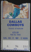 1987 NFL Cardinals at Cowboys ticket stub