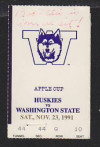 1991 NCAAF Washington State at Washington ticket stub