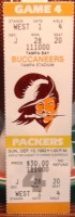 1992 NFL Packers at Buccaneers Farve debut ticket stub