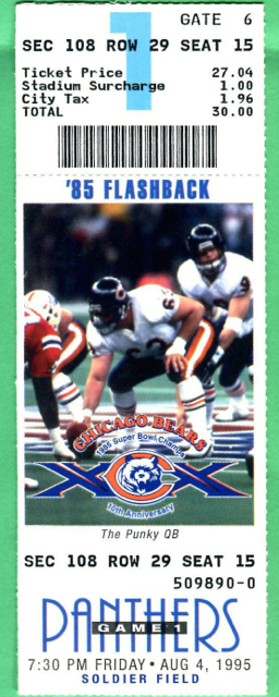 1995 NFL Panthers at Bears