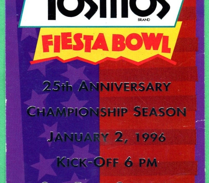 1996 Fiesta Bowl Florida vs Nebraska ticket stub