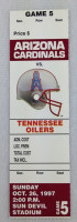 1997 NFL Tennessee Oilers at Arizona Cardinals ticket stub