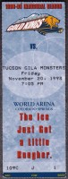 1998 WCHL Tucson Gila Monsters at Colorado Gold Kings ticket stub