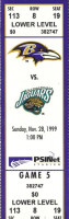 1999 NFL Jaguars at Ravens ticket stub