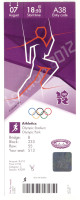 2012 Olympics London Track and Field Ticket Stub