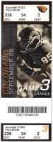 2013 NCAAF Colorado at Oregon State ticket stub