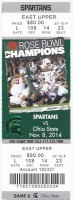 2014 NCAAF Ohio State at Michigan State ticket stub