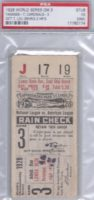 1928 World Series Game 3 Ticket Stub New York vs St. Louis