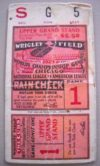 1929 World Series Game 1 A's at Cubs ticket stub