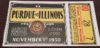 1930 NCAAF Purdue at Illinois Ticket Stub
