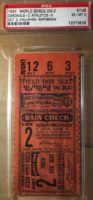 1931 World Series Game 2 Athletics at Cardinals ticket stub
