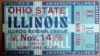 1936 NCAAF Ohio State at Illinois Ticket Stub