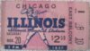 1937 NCAAF Chicago at Illinois ticket stub