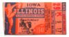 1941 NCAAF Iowa at Illinois ticket stub