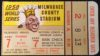 1958 World Series Game 7 Yankees at Braves ticket stub
