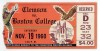 1960 NCAAF Clemson at Boston College ticket stub