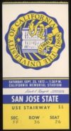 1972 NCAAF San Jose State at California ticket stub
