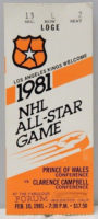 1981 NHL All Star Game ticket stub