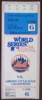 1986 World Series Game 6 Red Sox at Mets ticket stub