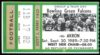 1989 NCAAF Akron at Bowling Green ticket stub