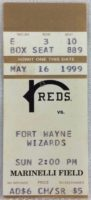 1999 Midwest League Fort Wayne at Rockford Ticket Stub