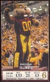 2007 NCAAF Illinois at Minnesota ticket stub