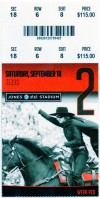 2010 NCAAF Texas at Texas Tech ticket stub
