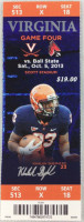 2013 NCAAF Ball State at Virginia ticket stub