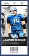 2013 NCAAF Eastern Michigan at Buffalo ticket stub