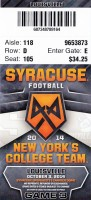 2014 NCAAF Louisville at Syracuse ticket stub