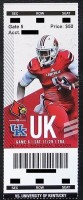 2014 NCAAF Kentucky at Louisville ticket stub