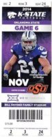 2014 NCAAF Oklahoma State at Kansas State ticket stub