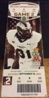 2015 NCAAF Minnesota at Colorado State ticket stub