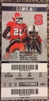 2015 NCAAF North Carolina at NC State ticket stub